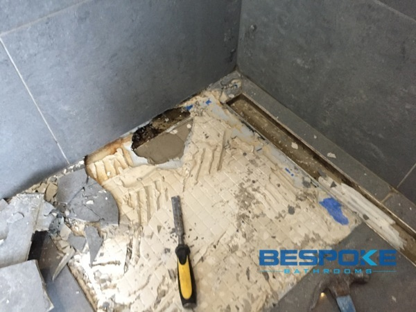 Bespoke bathrooms stripped the old bathroom back