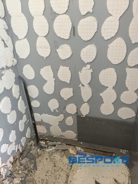 All tiling had to be removed